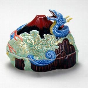 6号香炉 赤富士に龍 |米寿 プレゼント 金婚式 陶器 還暦祝い 退職祝 結婚祝い 贈り物 ペア 夫婦 誕生日 プレゼント 古希 喜寿 祝い||rachael