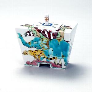 4.3号香炉 アニマルズ |米寿 プレゼント 金婚式 陶器 還暦祝い 退職祝 結婚祝い 贈り物 ペア 夫婦 誕生日 プレゼント 古希 喜寿 祝い||rachael