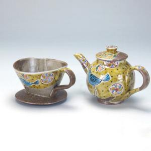 ドリッパー付ポット 青い鳥 |米寿 プレゼント 金婚式 陶器 還暦祝い 退職祝 結婚祝い 贈り物 ペア 夫婦 誕生日 プレゼント 古希 喜寿 祝い||rachael
