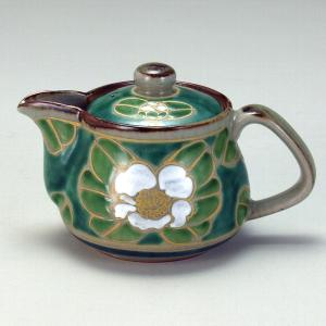 ポット 緑釉白山茶花 |米寿 プレゼント 金婚式 陶器 還暦祝い 退職祝 結婚祝い 贈り物 ペア 夫婦 誕生日 プレゼント 古希 喜寿 祝い||rachael