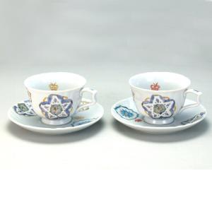 ペアコーヒー 花と蝶  米寿 プレゼント 金婚式 陶器 還暦祝い 退職祝 結婚祝い 贈り物 ペア 夫婦 誕生日 プレゼント 古希 喜寿 祝い  rachael