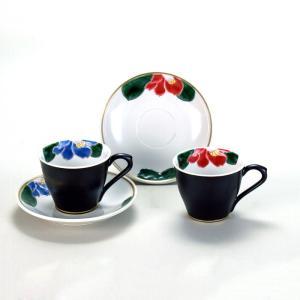 ペアコーヒー 色椿  米寿 プレゼント 金婚式 陶器 還暦祝い 退職祝 結婚祝い 贈り物 ペア 夫婦 誕生日 プレゼント 古希 喜寿 祝い  rachael