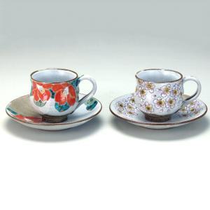 ペアコーヒー 椿・桜  米寿 プレゼント 金婚式 陶器 還暦祝い 退職祝 結婚祝い 贈り物 ペア 夫婦 誕生日 プレゼント 古希 喜寿 祝い  rachael