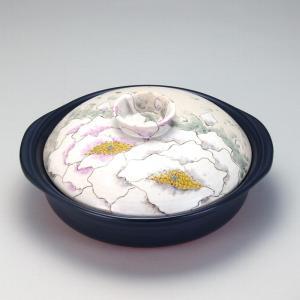 9号土鍋 富貴の図 |米寿 プレゼント 金婚式 陶器 還暦祝い 退職祝 結婚祝い 贈り物 ペア 夫婦 誕生日 プレゼント 古希 喜寿 祝い||rachael