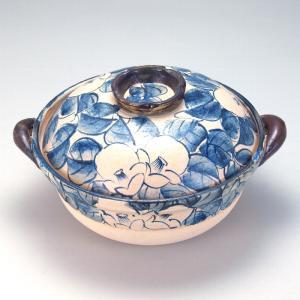 9号土鍋 染付椿 |米寿 プレゼント 金婚式 陶器 還暦祝い 退職祝 結婚祝い 贈り物 ペア 夫婦 誕生日 プレゼント 古希 喜寿 祝い||rachael