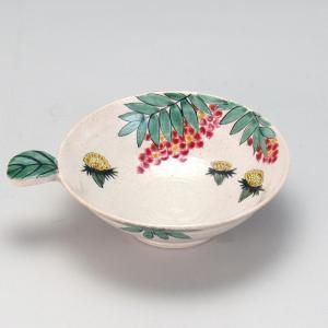 葉型手付5号小鉢 南天と福寿草 |米寿 プレゼント 金婚式 陶器 還暦祝い 退職祝 結婚祝い 贈り物 ペア 夫婦 誕生日 プレゼント 古希 喜寿 祝い||rachael