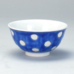 飯碗 紺地水玉 |米寿 プレゼント 金婚式 陶器 還暦祝い 退職祝 結婚祝い 贈り物 ペア 夫婦 誕生日 プレゼント 古希 喜寿 祝い||rachael