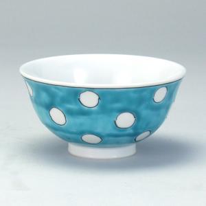 飯碗 緑地水玉 |米寿 プレゼント 金婚式 陶器 還暦祝い 退職祝 結婚祝い 贈り物 ペア 夫婦 誕生日 プレゼント 古希 喜寿 祝い||rachael