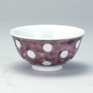 飯碗 紫地水玉 |米寿 プレゼント 金婚式 陶器 還暦祝い 退職祝 結婚祝い 贈り物 ペア 夫婦 誕生日 プレゼント 古希 喜寿 祝い||rachael