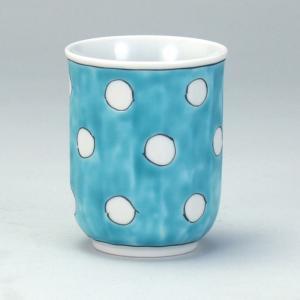 湯呑 緑地水玉 |米寿 プレゼント 金婚式 陶器 還暦祝い 退職祝 結婚祝い 贈り物 ペア 夫婦 誕生日 プレゼント 古希 喜寿 祝い||rachael