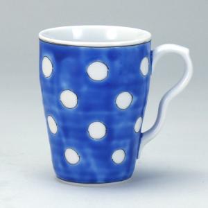 マグカップ 紺地水玉 |米寿 プレゼント 金婚式 陶器 還暦祝い 退職祝 結婚祝い 贈り物 ペア 夫婦 誕生日 プレゼント 古希 喜寿 祝い||rachael