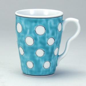 マグカップ 緑地水玉 |米寿 プレゼント 金婚式 陶器 還暦祝い 退職祝 結婚祝い 贈り物 ペア 夫婦 誕生日 プレゼント 古希 喜寿 祝い||rachael