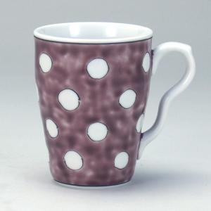 マグカップ 紫地水玉 |米寿 プレゼント 金婚式 陶器 還暦祝い 退職祝 結婚祝い 贈り物 ペア 夫婦 誕生日 プレゼント 古希 喜寿 祝い||rachael