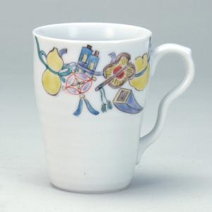 マグカップ 宝尽くし |米寿 プレゼント 金婚式 陶器 還暦祝い 退職祝 結婚祝い 贈り物 ペア 夫婦 誕生日 プレゼント 古希 喜寿 祝い||rachael