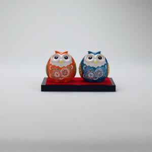 2.8号ペア梟 盛 |米寿 プレゼント 金婚式 陶器 還暦祝い 退職祝 結婚祝い 贈り物 ペア 夫婦 誕生日 プレゼント 古希 喜寿 祝い||rachael