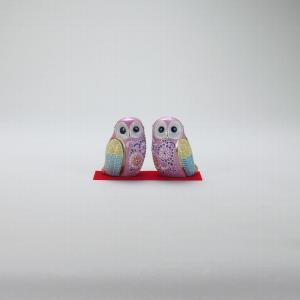 2.3号ペア梟 ピンク盛 |米寿 プレゼント 金婚式 陶器 還暦祝い 退職祝 結婚祝い 贈り物 ペア 夫婦 誕生日 プレゼント 古希 喜寿 祝い||rachael