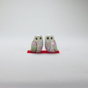 2.3号ペア梟 白盛 |米寿 プレゼント 金婚式 陶器 還暦祝い 退職祝 結婚祝い 贈り物 ペア 夫婦 誕生日 プレゼント 古希 喜寿 祝い||rachael