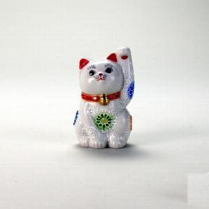3号招猫 白盛 |米寿 プレゼント 金婚式 陶器 還暦祝い 退職祝 結婚祝い 贈り物 ペア 夫婦 誕生日 プレゼント 古希 喜寿 祝い||rachael