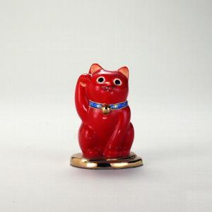 3号小判乗り招猫 赤ぬり |米寿 プレゼント 金婚式 陶器 還暦祝い 退職祝 結婚祝い 贈り物 ペア 夫婦 誕生日 プレゼント 古希 喜寿 祝い||rachael