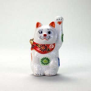 4号招猫 白盛 |米寿 プレゼント 金婚式 陶器 還暦祝い 退職祝 結婚祝い 贈り物 ペア 夫婦 誕生日 プレゼント 古希 喜寿 祝い||rachael