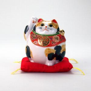 4号丸形招猫 毛長三毛 |米寿 プレゼント 金婚式 陶器 還暦祝い 退職祝 結婚祝い 贈り物 ペア 夫婦 誕生日 プレゼント 古希 喜寿 祝い||rachael