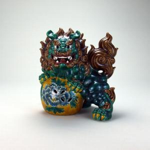 8号立獅子 交趾 |米寿 プレゼント 金婚式 陶器 還暦祝い 退職祝 結婚祝い 贈り物 ペア 夫婦 誕生日 プレゼント 古希 喜寿 祝い||rachael