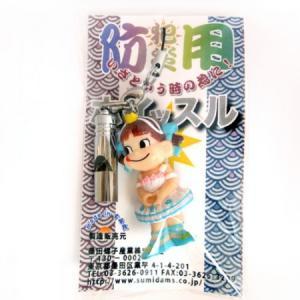 防災・防犯用笛 日本製ホイッスル☆ペコちゃんストラップ -ee|racimall