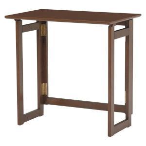 折りたたみテーブル/作業机 〔長方形/幅70cm〕 木製 木目調|rack-lukit