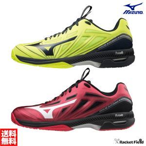 【送料無料】ミズノ ソフトテニスシューズ ウエーブエクシード 4 WIDE OC(61GB2013)幅3E 硬式テニス 軟式テニス 靴 軽量 YONEX racket-field