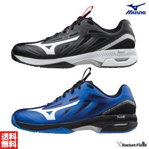 【送料無料】ミズノ ソフトテニスシューズ ウエーブエクシード 4 SW OC(61GB2014)4E相当 硬式テニス 軟式テニス 靴 軽量 YONEX racket-field
