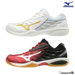 ミズノ バドミントンシューズ ウェーブクロー(71GA1910)3E相当の方向け 室内 体育館 靴 ...