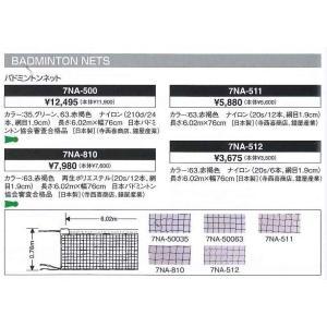 ミズノ MIZUNO バドミントン用ネット 日本バドミントン協会審査合格品(7NA500) badminton  【バドミントン ネット】|racket-field