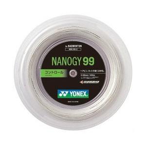 ヨネックスYONEXバドミントンガット・ストリングナノジー99 NANOGY99 【ロール200m】【バドミントン ガットロール】 racket-field