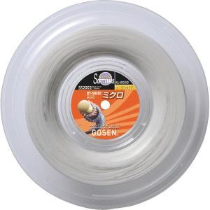 ゴーセン GOSEN ソフトテニスストリング(ガット) SS2002 ハイシープミクロ ロール 200m巻ロール   (10)ホワイト racket-field