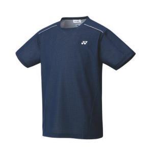 ヨネックス YONEX 10416 ユニゲームシャツ(フィットスタイル) テニス・バドミントン ウエア(ユニ) ネイビーブルー|racket-field