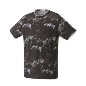 ヨネックス YONEX 10417 ユニゲームシャツ(フィットスタイル) テニス・バドミントン ウエア(ユニ) ブラック|racket-field