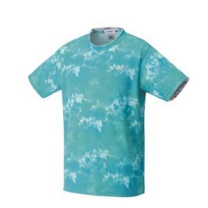 ヨネックス YONEX 10417 ユニゲームシャツ(フィットスタイル) テニス・バドミントン ウエア(ユニ) ライトターコイズ|racket-field