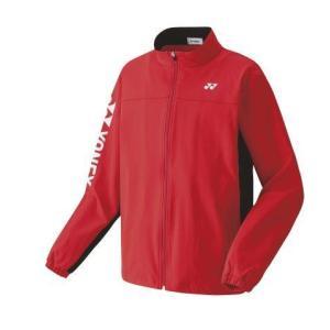 ヨネックス YONEX 50113 ユニニットウォームアップシャツ テニス・バドミントン ウエア(ユニ) サンセットレッド|racket-field