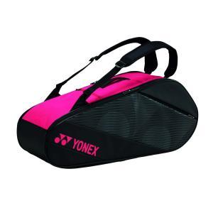 ヨネックス YONEX BAG2012R ラケットバッグ6 テニス・バドミントン バッグ ブラック/ローズピンク racket-field