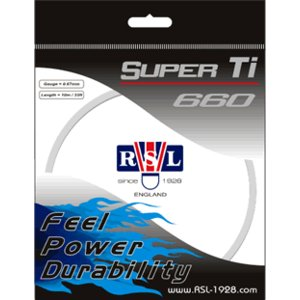 RSL (アールエスエル) スーパーTi 660 バドミントンガット racket-shop-f