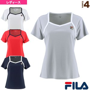 フィラ テニス・バドミントンウェア(レディース)  ゲームシャツ/レディース(VL2137)