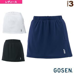 ゴーセン テニス・バドミントンウェア(レディース)  レディーススカート/インナースパッツ付(S16...