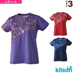 キットソン テニス・バドミントンウェア(レディース)  幾何学柄ゲームシャツ/レディース(0384013)|racket