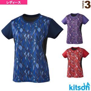 キットソン テニス・バドミントンウェア(レディース)  幾何学柄ゲームシャツ/レディース(0384014)|racket