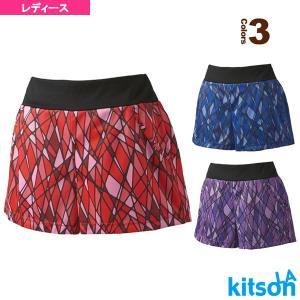 キットソン テニス・バドミントンウェア(レディース)  幾何学柄ゲームパンツ/レディース(0384016)|racket