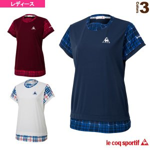 ルコック テニス・バドミントンウェア(レディース)  半袖シャツ/レディース(QTWOJA04)