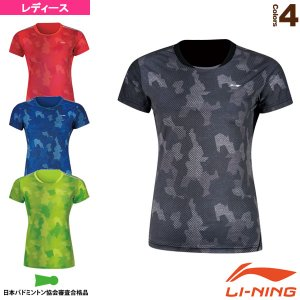 リーニン テニス 出荷 バドミントンウェア 中国ナショナルチームゲームシャツ レディース AAYN044 2020モデル