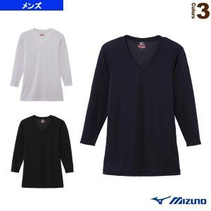 [ミズノ ライフスタイルアンダーウェア]ブレスサーモエブリプラス Vネック長袖シャツ/デイリー用・中厚/メンズ(C2JA6641)
