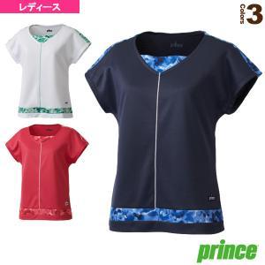プリンス テニス・バドミントンウェア(レディース)  ゲームシャツ/レディース(WL7041)テニス...
