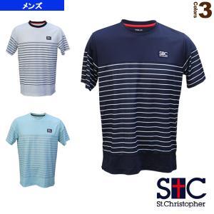 セントクリストファー テニス・バドミントン ウェア(メンズ/ユニ)  マリンボーダーゲームシャツ/メンズ(STC-BAM1221)|racket